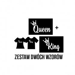 King & Queen - nadruk wzoru