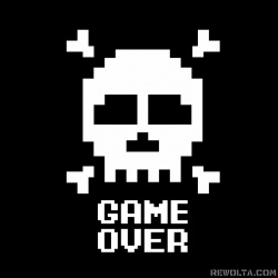 Game Over - nadruk wzoru