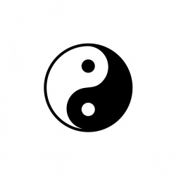 Yin i Yang - nadruk wzoru