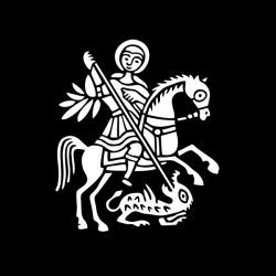 Św. Jerzy - nadruk wzoru