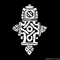 Coptic Cross - nadruk wzoru