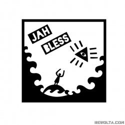 Jah Bless - nadruk wzoru