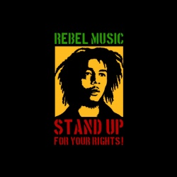 Bob Marley - nadruk wzoru