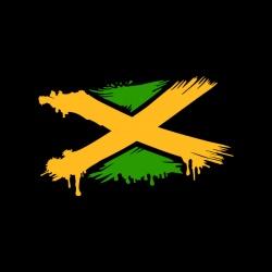 X - Jamaica - nadruk wzoru