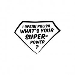 I speak polish - nadruk wzoru