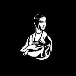 Dama z Łasiczką - nadruk wzoru